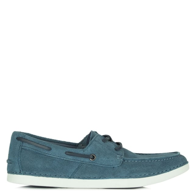 Murray Blue Suede Men's Boat Shoe