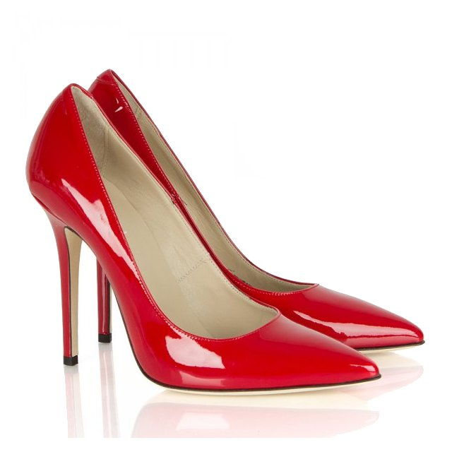 Mustio Red Patent Court Shoe