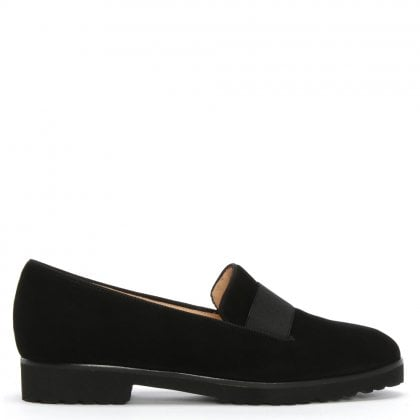 Nadiya Black Suede Loafers