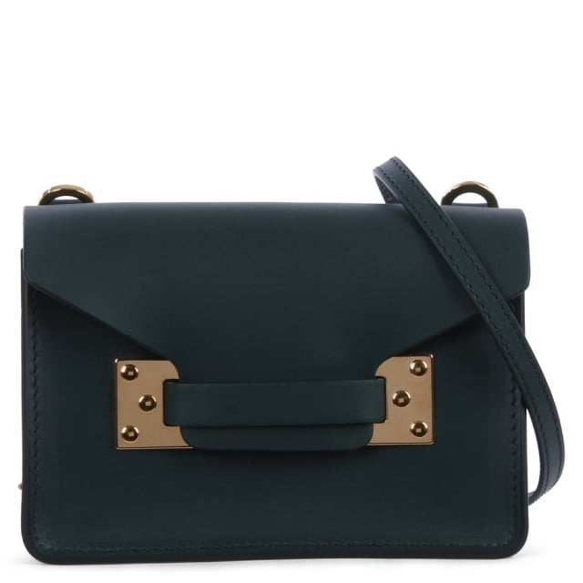 Nano Milner Forest Green Leather Saddle Bag
