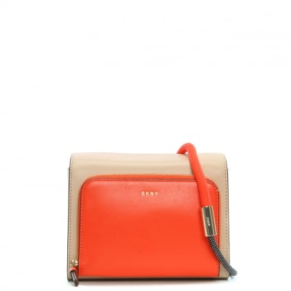 Nappa Multicoloured Leather Bungee Strap Cross-Body Bag