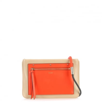 Nappa Multicoloured Leather Colour Block Bungee Strap Cross-Body Bag