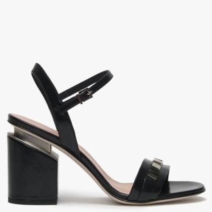 d296b7e9b Narrie Black Leather Studded Open Toe Sandals