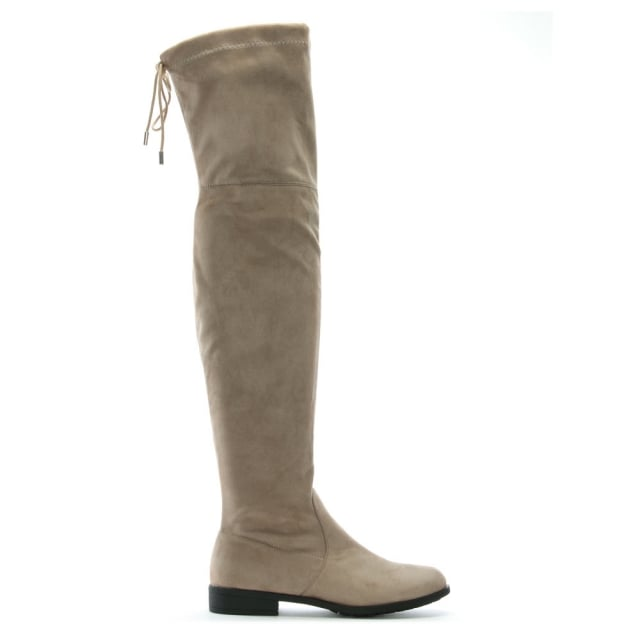 DF By Daniel Nate Grey Suedette Over The Knee Boots