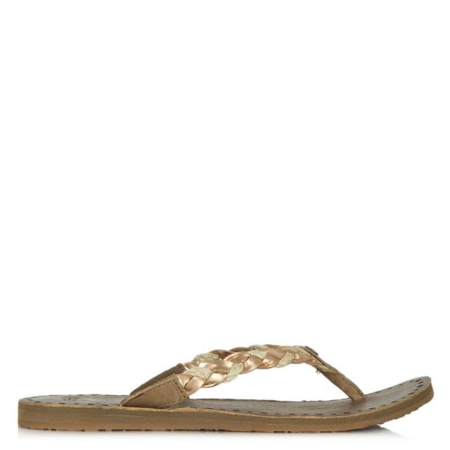 e85464ea61b Navie Rose Gold Jute Braid Toe Post Flip Flop