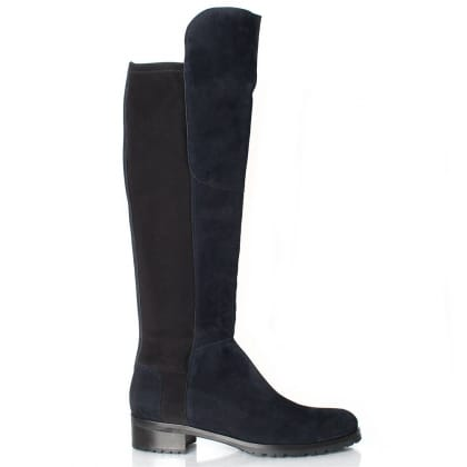 Navy 41 24160 Women's Flat Knee Boot