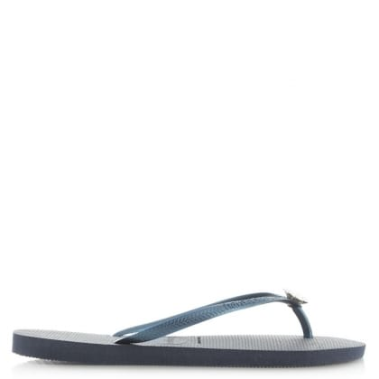 Havaianas Navy Slim Crystal Poem Women's Flip Flop
