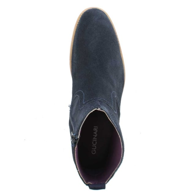fe7199a11670 Gucinari Navy Suede Ankle Boot