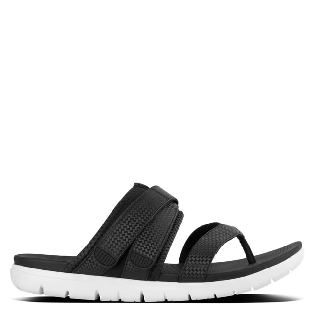 Neoflex Black Sporty Thong Sandals
