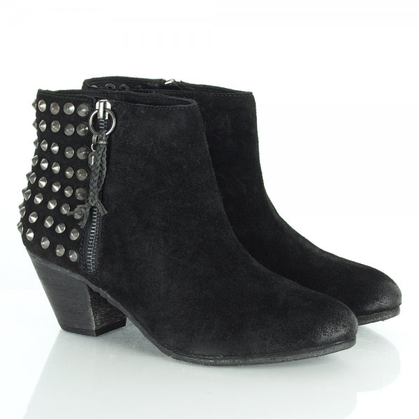 aeb7ab16 Nevada Black Women's Studded Suede Ankle Boot