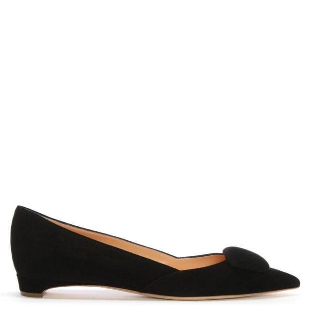 14827124393f Rupert Sanderson New Black Suede Pointed Toe Pumps