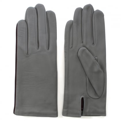 New Kate Grey Leather Gloves