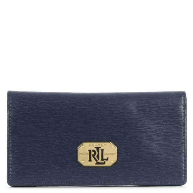 Newbury Navy Leather Slim Wallet