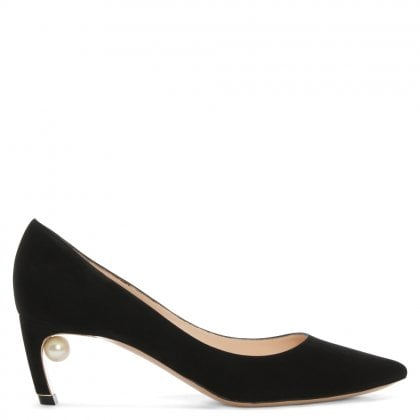 Mira 55 Black Suede Heeled Pumps
