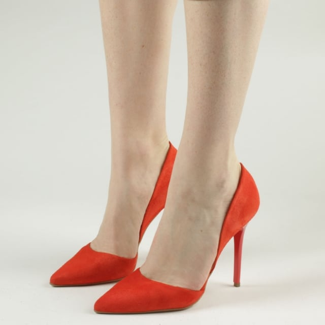 7f51e96b745 Nicolette Red Suede Two Part Court Shoe