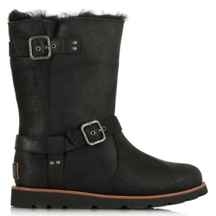 Noira Black Suede Calf Boot