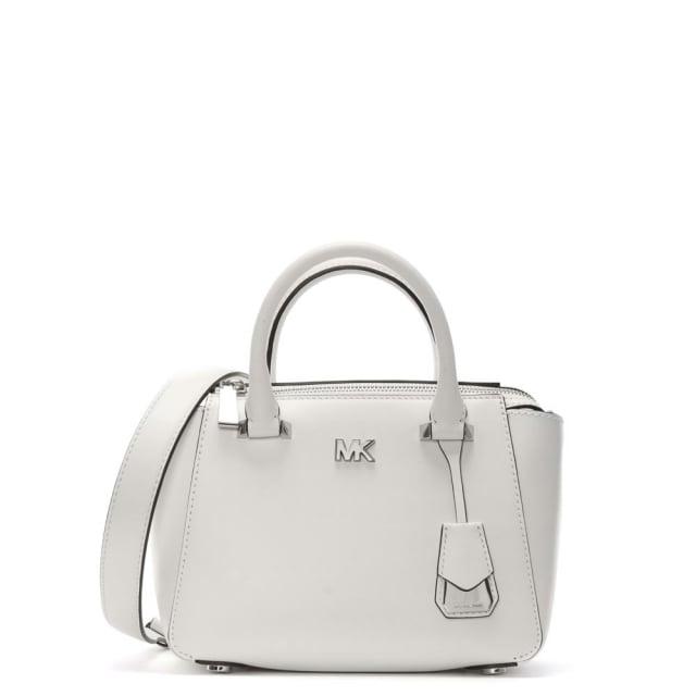 615791bc9b9e8d Michael Kors Nolita Mini Optic White Leather Satchel Bag