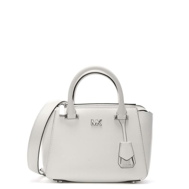 Nolita Mini Optic White Leather Satchel Bag