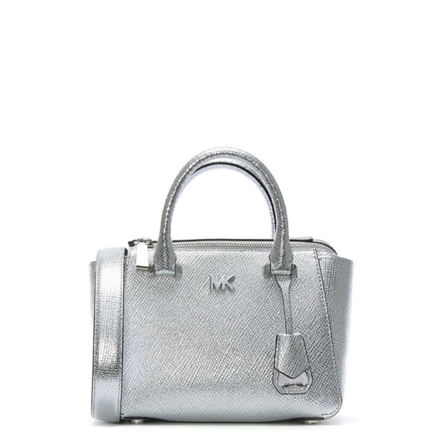 Nolita Mini Silver Leather Satchel Bag