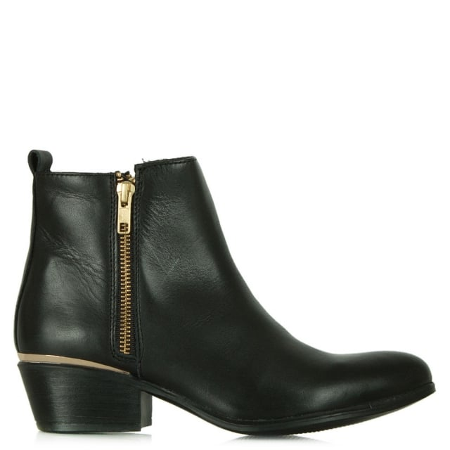 November Black Leather Ankle Boots