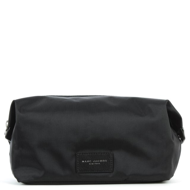 Nylon Black Biker Cosmetic Pouch