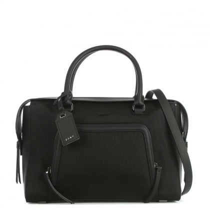 Nylon Black Large Satchel