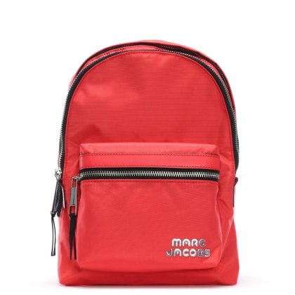 Nylon Poppy Red Sport Backpack