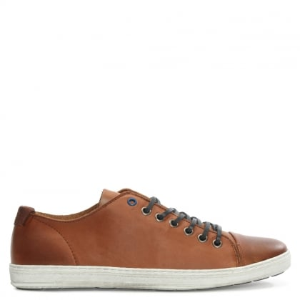 Oakdale Tan Leather Lace Up Pump