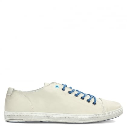 Oakdale White Leather Lace Up Pump