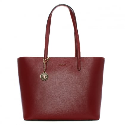Olive Saffiano Scarlet Leather Large Tote Bag