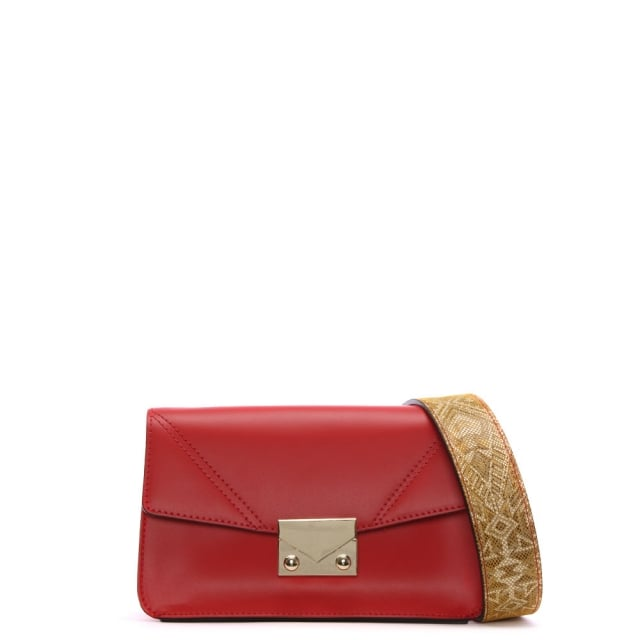 Oras Red Leather Shoulder Bag