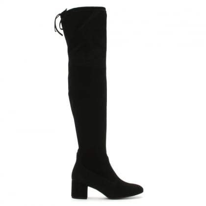 Otk Black Suede Over The Knee Boots