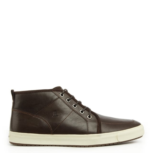 Oxford Brown Leather Lace Up High Top