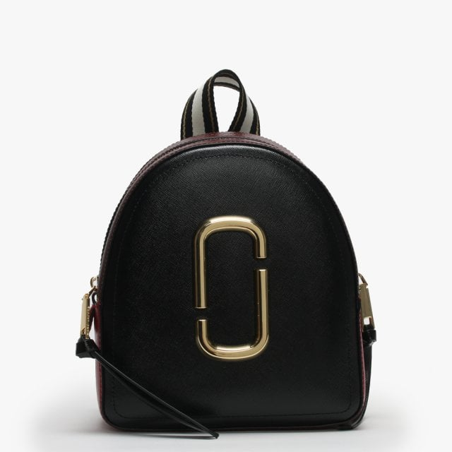 728336383f70 Marc Jacobs Pack Shot Black   Red Leather Backpack