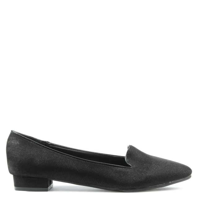 Paddock Way Black Sparkly Pointed Toe Pump