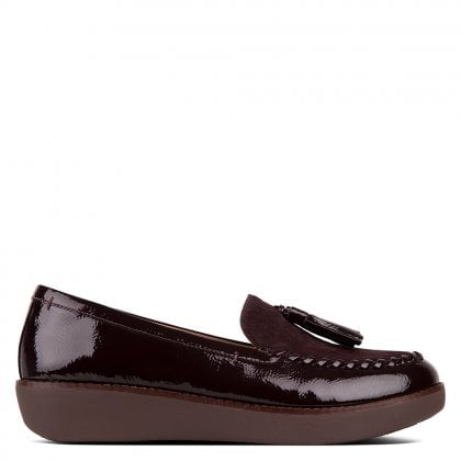 Paige Berry Patent Leather Loafers