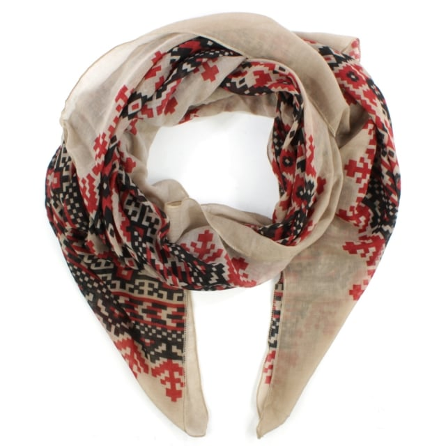 Patterned Multicoloured Light Weight Scarf
