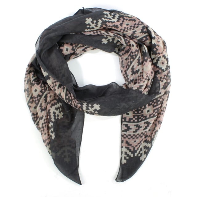 Patterned Multicolured Light Weight Scarf