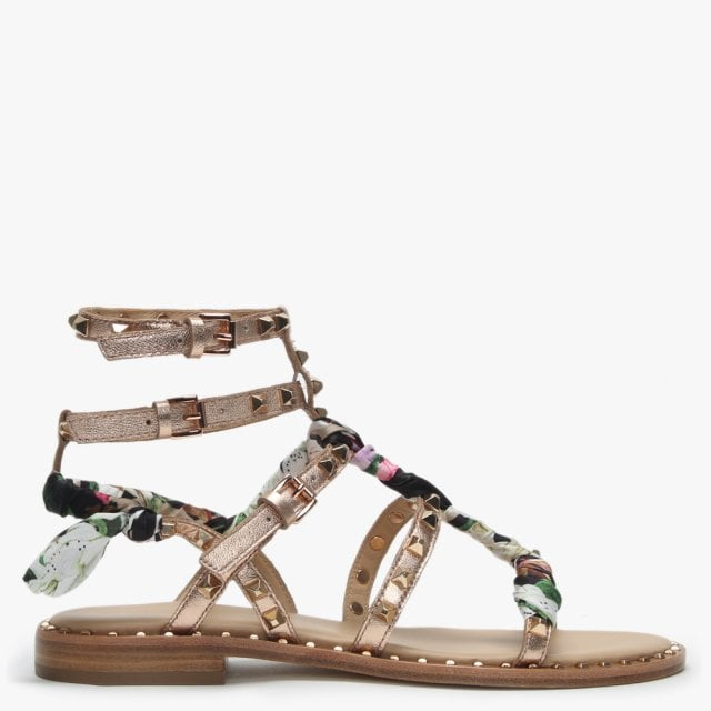 e3203bf449d6 Ash Pax Rose Gold Studded Gladiator Sandals