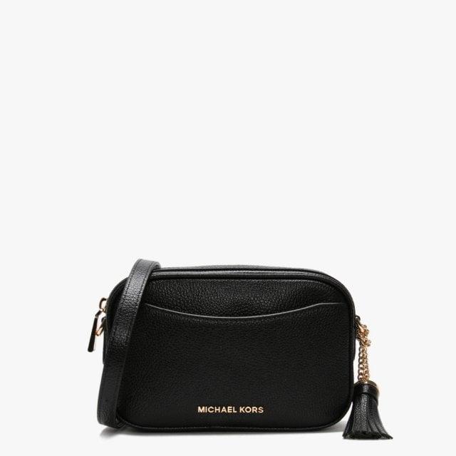 Pebbled Black Leather Convertible Belt Bag