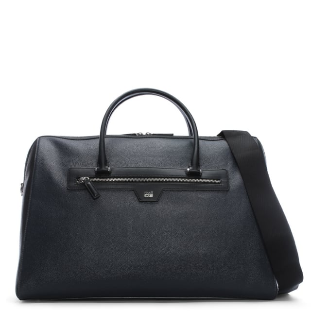 Cavalli Class Pebbled Blue Two Tone Leather Weekend Bag