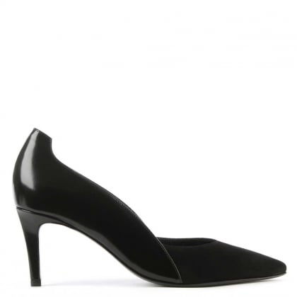 Kennel & Schmenger Pelzer Black Leather & Suede Court Shoe