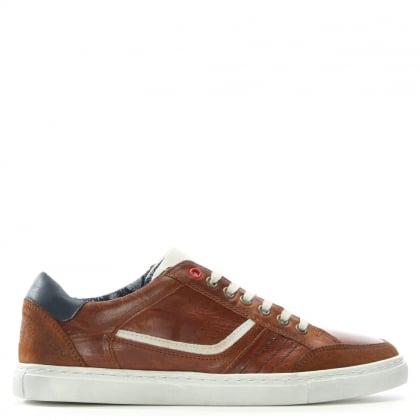 Penalta Tan Leather Lace Up Trainer