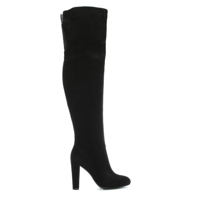 Perfect Black Suede Over The Knee Boot