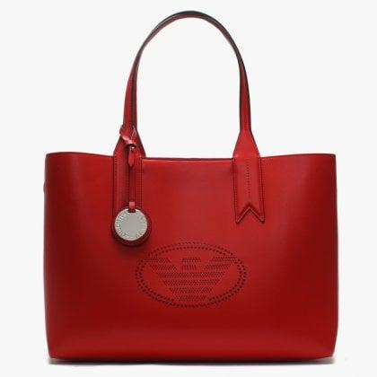 cc4aa79a Perforated Logo Frida Red Shopper Bag. Sale. Emporio Armani ...