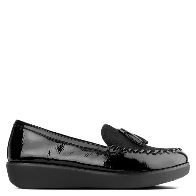8ec5b8b8f FitFlop Petrina Black Patent Leather Loafers