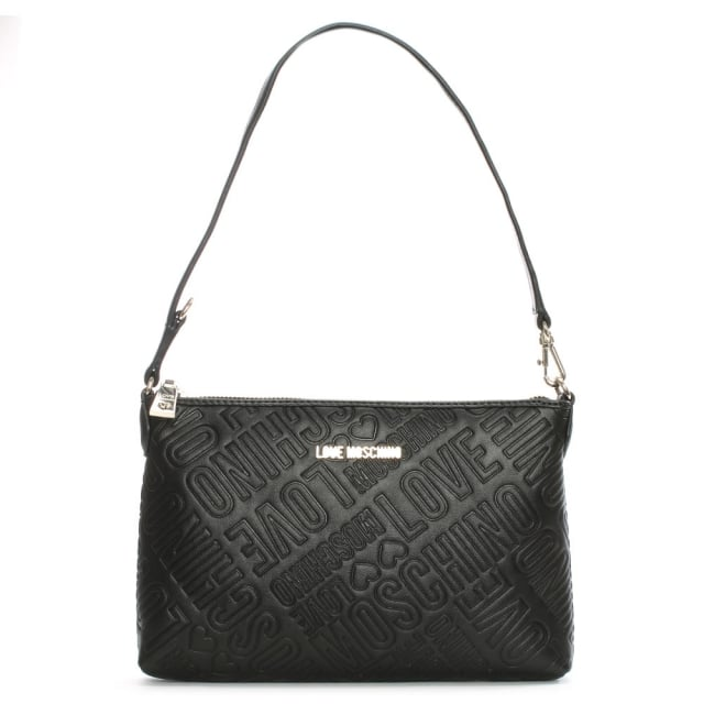 Petronas Black Logo Embossed Shoulder Bag