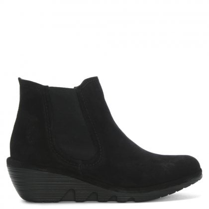013c9627ca0 Phil Black Suede Wedge Chelsea Boots. Sale. Fly London ...