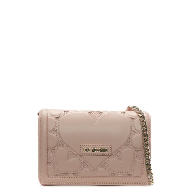 Phoebe Pink Mini Heart Cross-Body Bag
