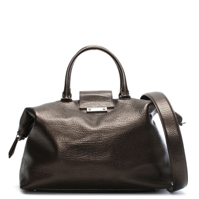 Phoenix Bronze Pebbled Leather Weekend Bag